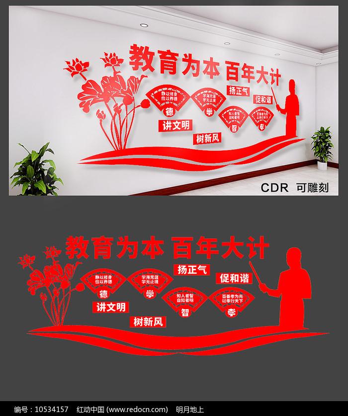 创意学校文化墙设计图片