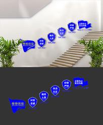 公安警营楼梯文化墙设计