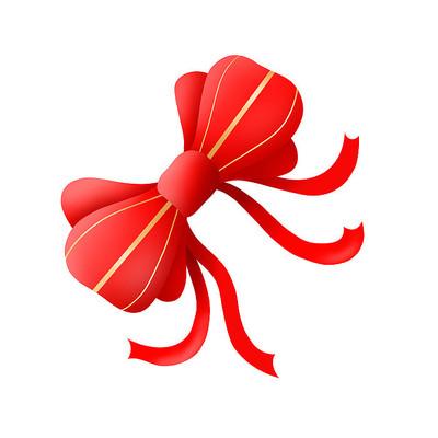 红色蝴蝶结装饰物