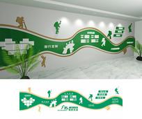户外登山文化墙设计
