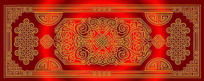 蒙古族红银背景图