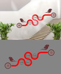 企业楼梯文化墙