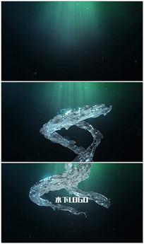 液体水流动logo片头AE模板