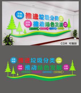 简约社区垃圾分类文化墙设计