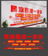基层党建民族团结文化墙