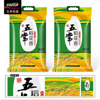绿色大米包装设计