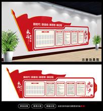 大气红色党员活动室布置文化墙