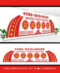 中华民族团结文化墙
