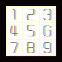 彩虹数字设计