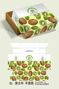 简约绿心猕猴桃天地盖盖包装设计