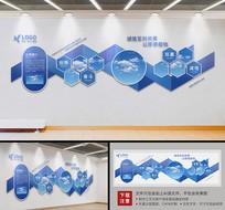 蓝色异形文化墙