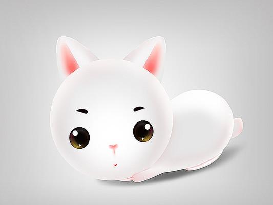 原创可爱卡通小白兔子