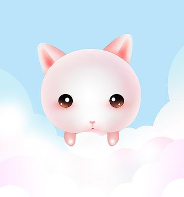 原创手绘可爱动物卡通兔子