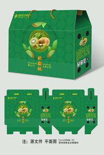 简约绿心猕猴桃手提包装礼盒设计