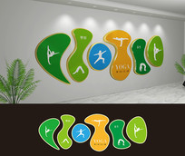 瑜伽室文化墙设计