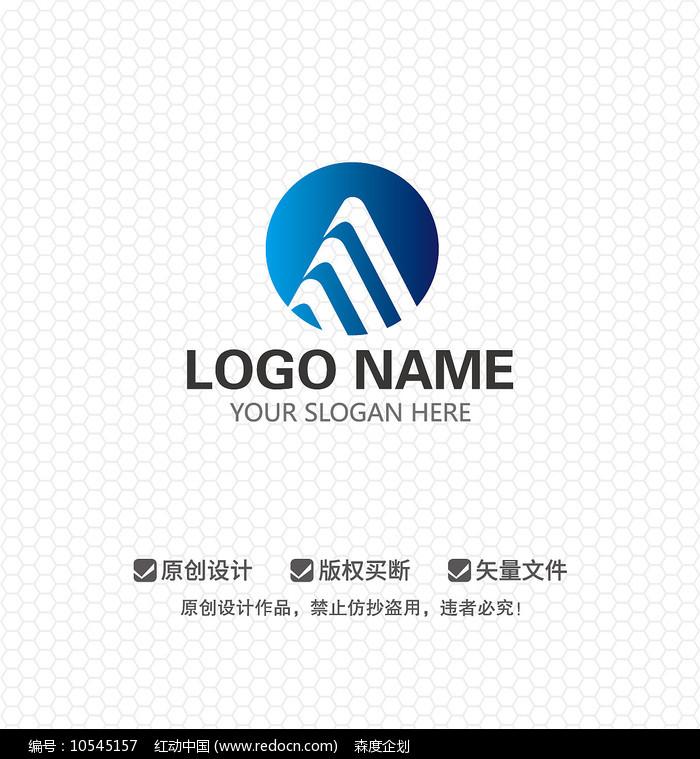 M字母建筑工程LOGO设计图片