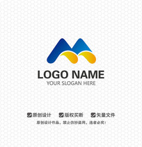 M字母休闲娱乐LOGO设计