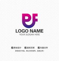 PF字母休闲娱乐LOGO设计