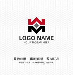 WM字母艺术文化LOGO设计
