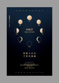 创意八月十五中秋节宣传海报
