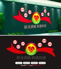 人民调解党建文化墙效果图布置制度展板