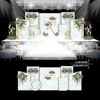 小清新主题婚礼效果图设计欧式婚庆背景