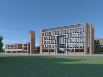 3d现代办公楼建筑模型