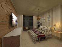家居室内卧室3D模型