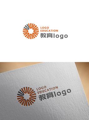 简约教育logo设计
