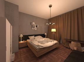 简约室内卧室3D模型