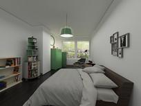 简约小清新室内卧室3D模型