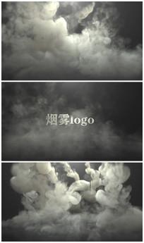 烟雾logo 视频模板