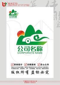 自驾游旅游美景LOGO标志设计