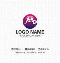 MD字母休闲娱乐LOGO设计