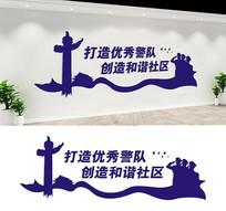 社区派出所公安宣传标语文化墙