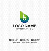 B字母休闲娱乐LOGO设计