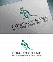 袋鼠LOGO标志设计