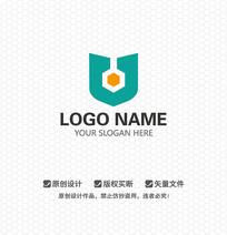 盾牌鎖具公司LOGO設計