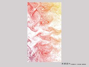 暖色抽象画