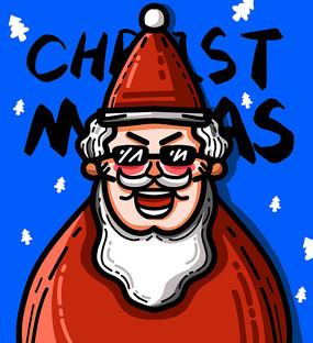 原创元素超酷的圣诞老人