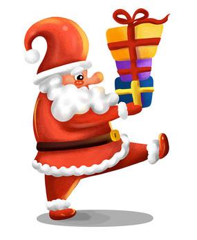 原创元素萌萌哒圣诞老人