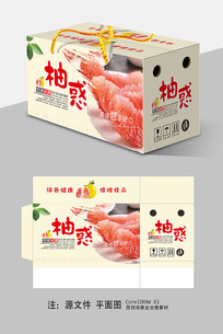 红肉柚子包装礼盒设计