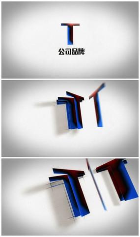 简洁翻页logo视频模板