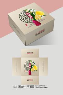 沙田柚天地盖礼盒包装设计