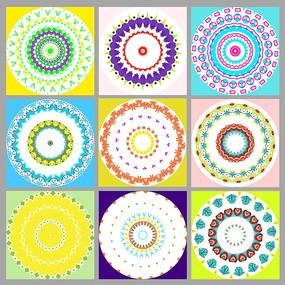 水果硬糖风装饰画圆形图案