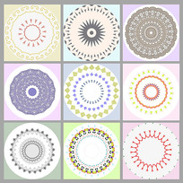 小清新风装饰画圆形图案设计