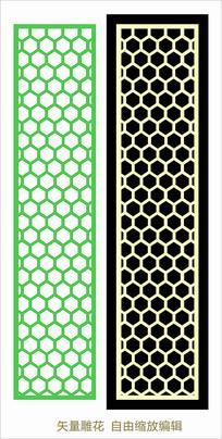中式元素雕花隔断花格屏风CDR素材