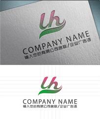 LH字母LOGO标志设计