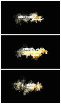 彩色烟雾字幕条视频模板