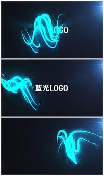 蓝光logo片头视频模板